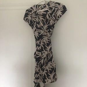 Amuse Society Palm Wrap Dress S